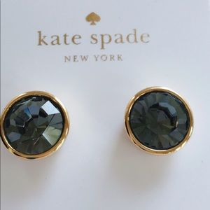 Kate Spade Gold and Blue Grey Faceted Studs